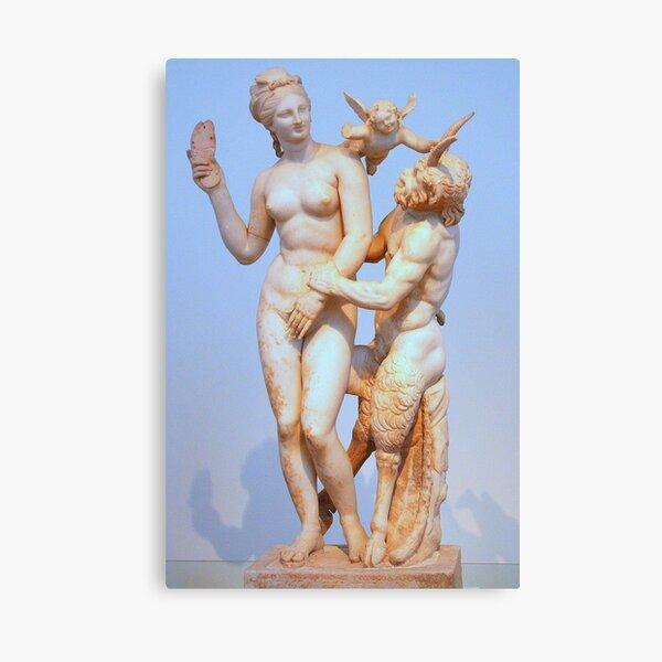 Aphrodite, Eros, and Pan Canvas Print