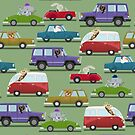 Animals In Cars by pencilfury