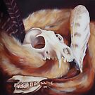 Fox and Fur Oil Painting by Sammi by ABWDArtStudio
