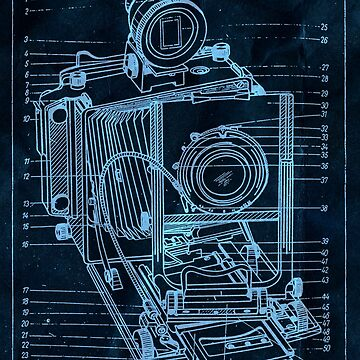 vintage camera blueprint 2 by TheMaker