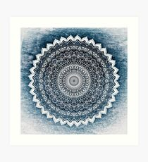 COLD WINTER MANDALA Art Print