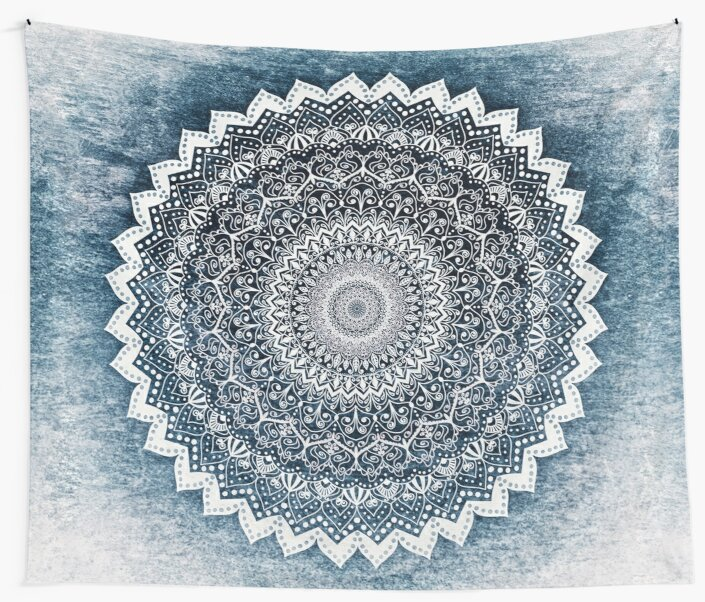COLD WINTER MANDALA by nikamartinez