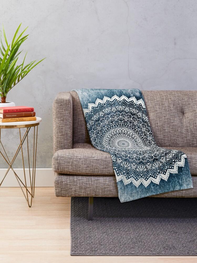Alternate view of COLD WINTER MANDALA Throw Blanket