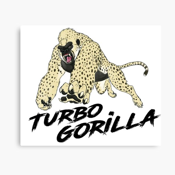 The Turbo Gorilla - By Racecar Canvas Print