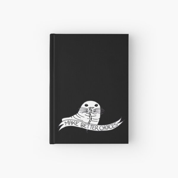 The Cautionary Seal: Black & White Hardcover Journal