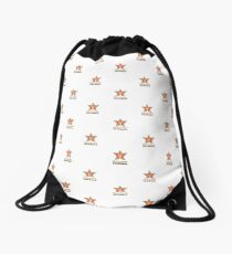 Customize My Minifig Star Logo Design Drawstring Bag