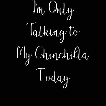 I'm Only Talking to my Chinchilla Today by stacyanne324