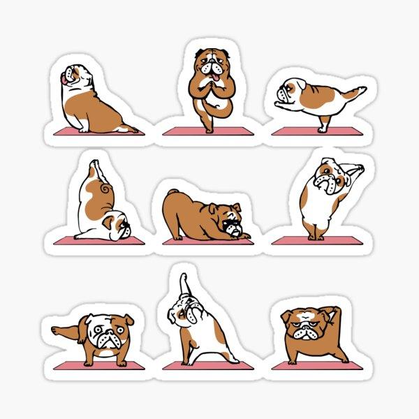 English Bulldog Yoga Sticker