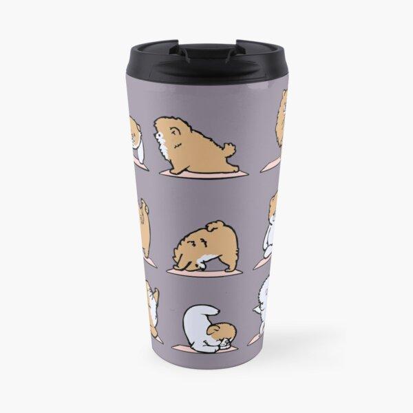 Pomeranian Yoga Travel Mug