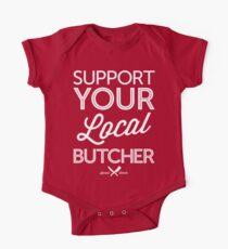 Body de manga corta para bebé Apoya a tu carnicero local