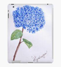 Blaue Blumenaquarellillustration botanisch iPad-Hülle & Skin