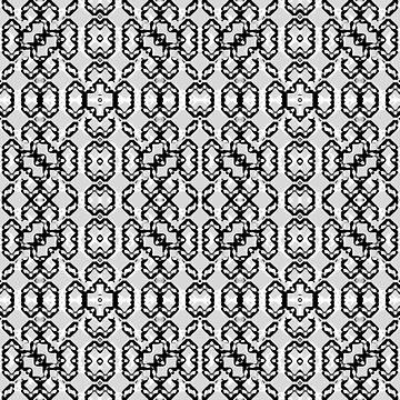 Black and White Modern Geometric Pattern by DFLCreative