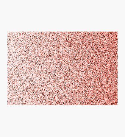 Living coral light glitter sparkles Photographic Print