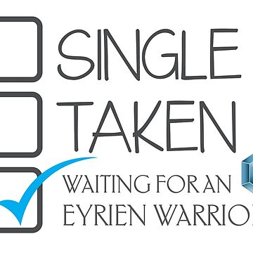 CHECKLIST SINGLE TAKEN WAITING FOR AN EYRIEN WARRIOR by jazzydevil