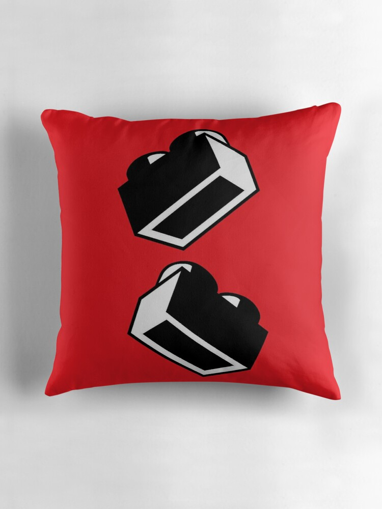 Quot 1 X 2 Brick Quot Throw Pillows By Customize My Minifig