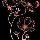 cosmos flower (rase gold) by JulP