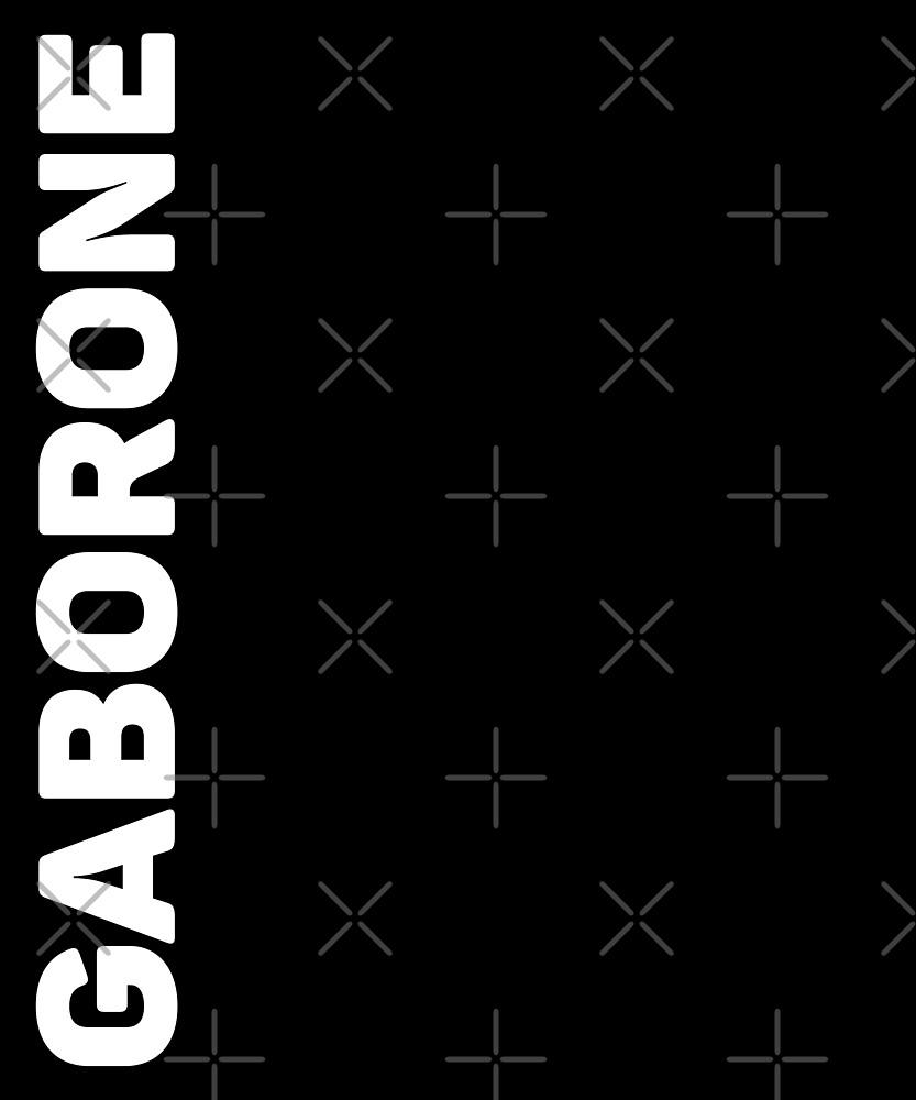 Gaborone T-Shirt by designkitsch