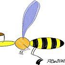 Flying wasp by Piotr Dulski