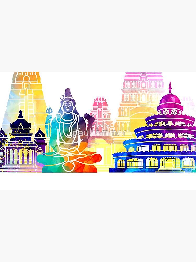 Bangalore-Markstein-Aquarellplakat von paulrommer