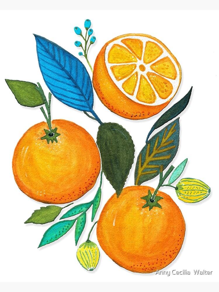Lady Orange  von AnnyCeciliaWalt