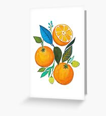 Lady Orange Greeting Card