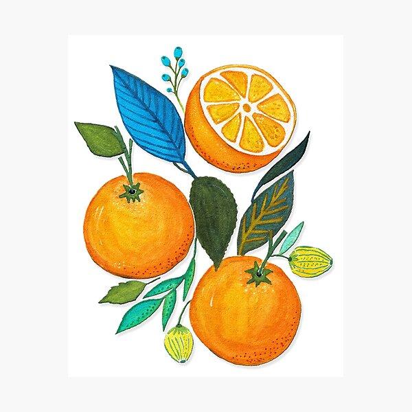 Lady Orange Photographic Print