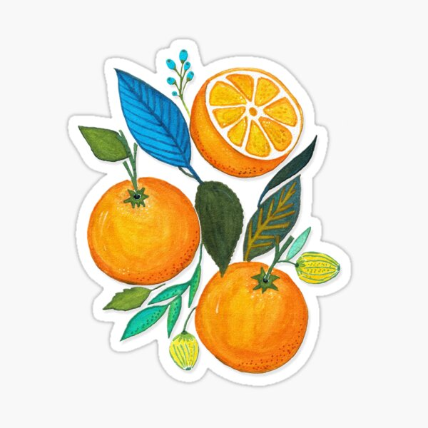 Lady Orange Sticker