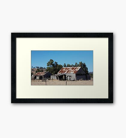 farmscapes #53, we're still standing Framed Print