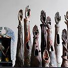 """Sacred Sangha"" - ceramic reliquaries, shrines & funeraires handbuilt by artist Mona Shiber  by Mona Shiber"
