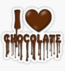 I Love Chocolate T-Shirt Sticker