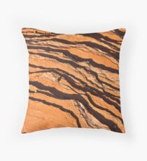 Striated Rocks Throw Pillow