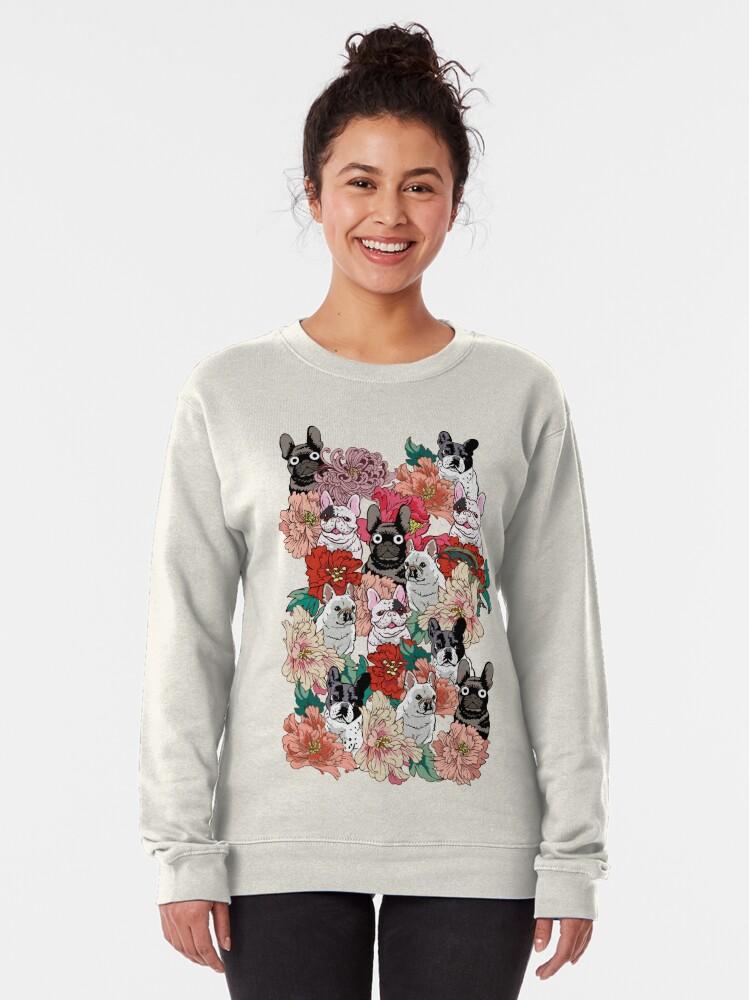 Alternate view of Because French Bulldog  Pullover Sweatshirt