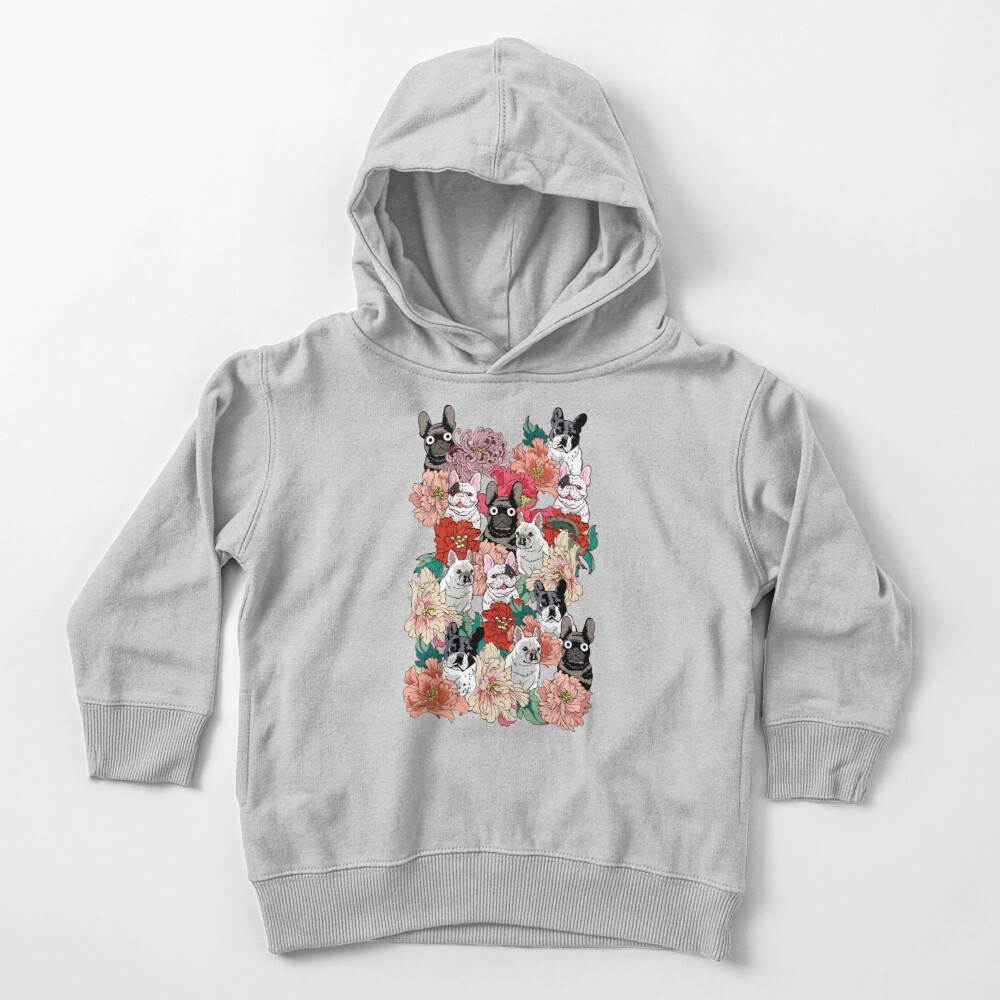 French BullBloom Toddler Pullover Hoodie