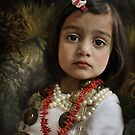 The portrait with beads and hairclip by Sashy