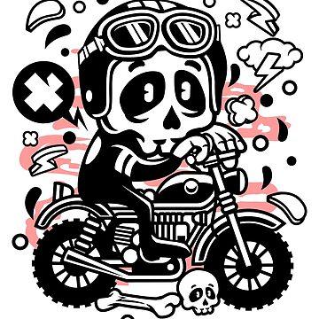 Skull Biker Motocross by Skullz23