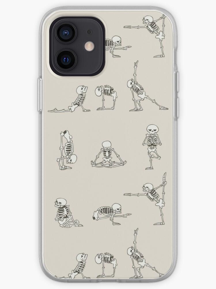 Yoga squelette   Coque iPhone