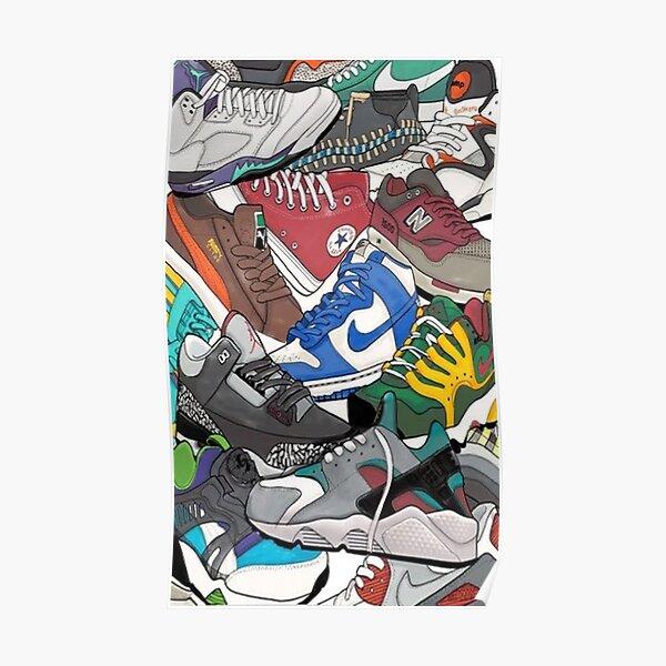 Sneaker-Kopf Poster