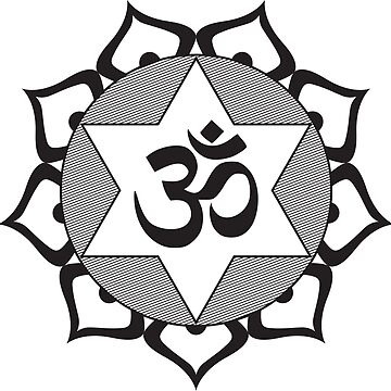 Original Black Yoga OM Symbol  by igorsin