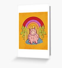 Pigsuit Greeting Card