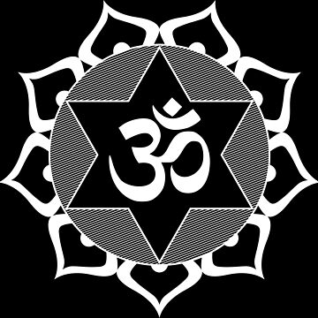 Original White Yoga OM Symbol  by igorsin