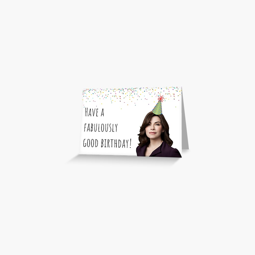 The Good Wife, Tv, Birthday, attorney, lawyer, law, series, netflix, good  vibes, life, people, famous, quotes, gift, present, ideas | Greeting Card