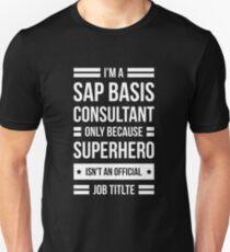 Ich bin ein SAP-Berater, auch bekannt als SUPERHERO - Dark Version Unisex T-Shirt