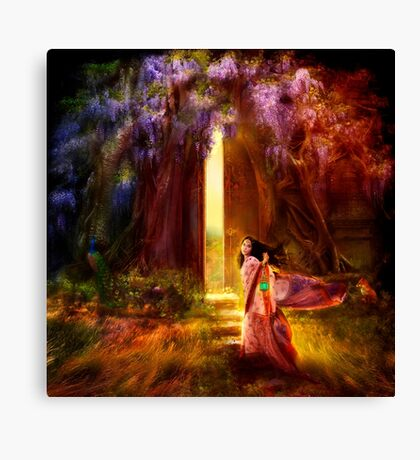 A Knock at the Door Canvas Print