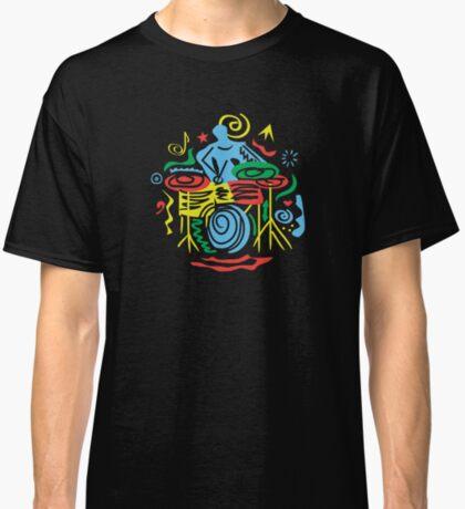 Fancy Drummer Modern Fun Concept  Classic T-Shirt