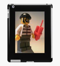 Convict Prisoner City Minifigure with Dynamite Sticks iPad Case/Skin