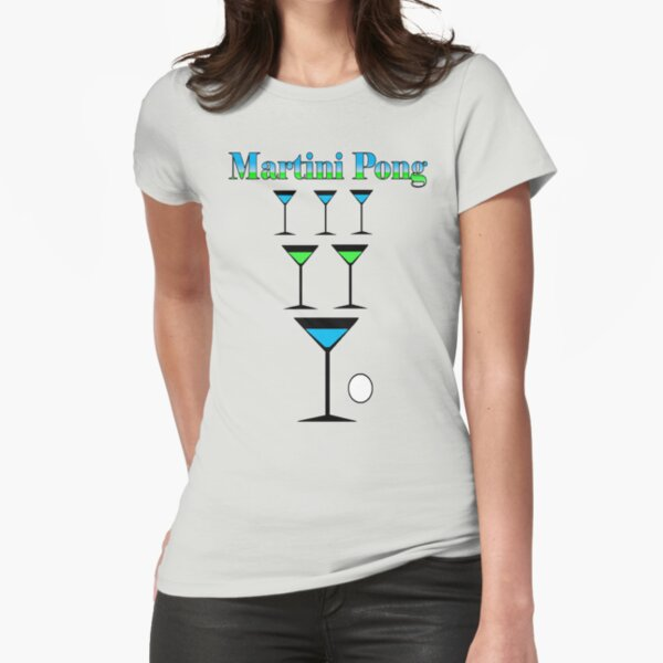 Martini Pong Fitted T-Shirt