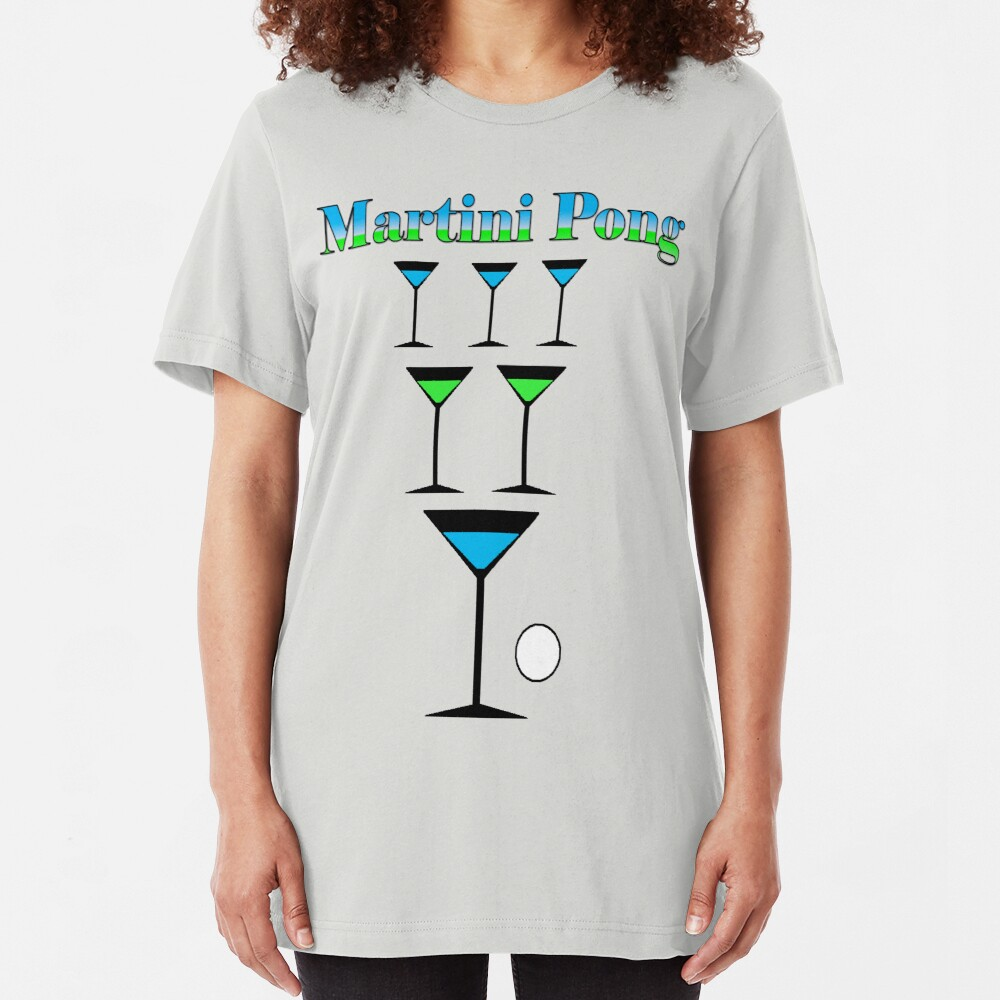 Martini Pong Slim Fit T-Shirt