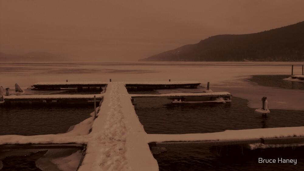 Winter Dock, Otsego by Bruce Haney