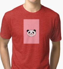 Panda Pinky Tri-blend T-Shirt
