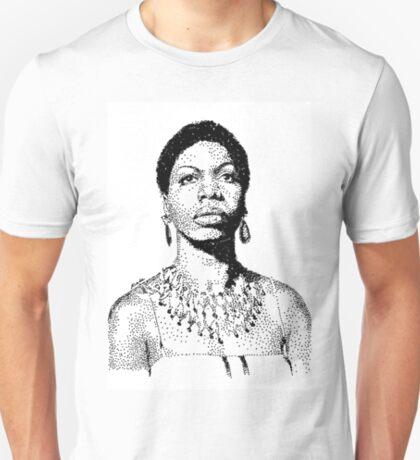 Nina Simone Portrait Famous Jazz Musician  T-Shirt